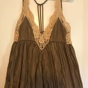 Gold Free People dress! Worn once!
